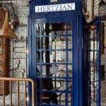 The classic British phone box inside the restaurant