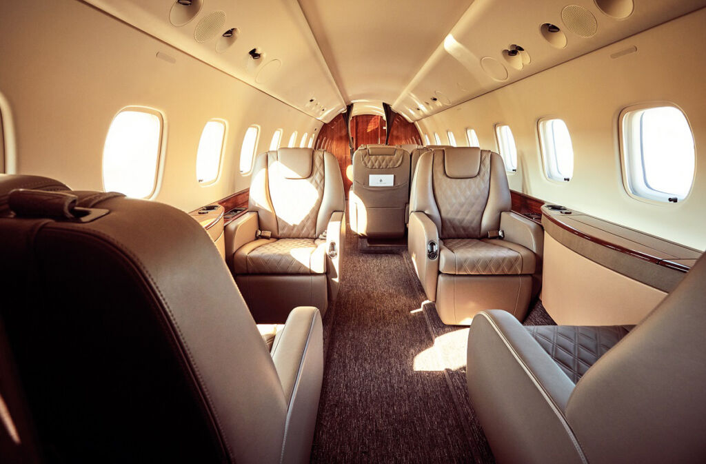 Inside a private jet from Air Partner