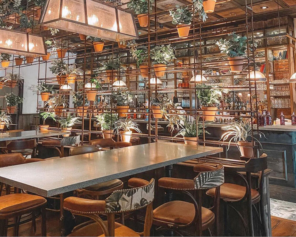 The interior of the Botanist in Lincoln
