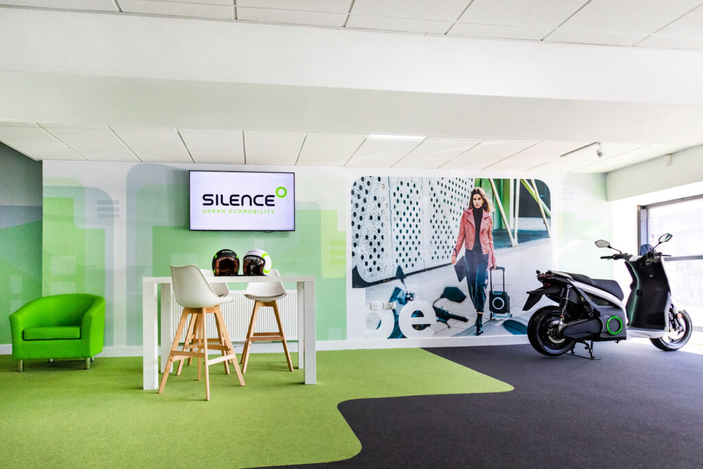 Interior of the Silence UK retail premises in Solihull