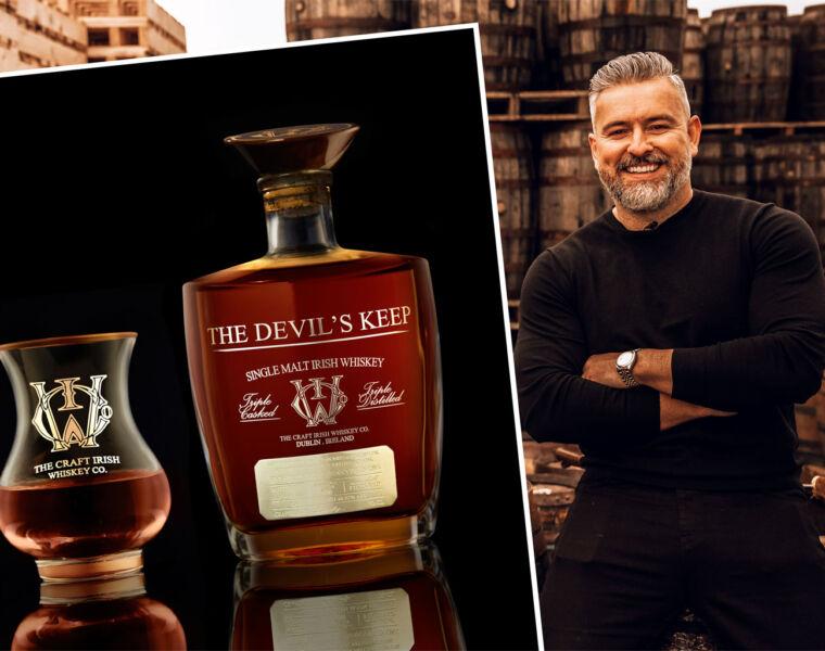 Jay Bradley with the Devils Keep Irish Whiskey