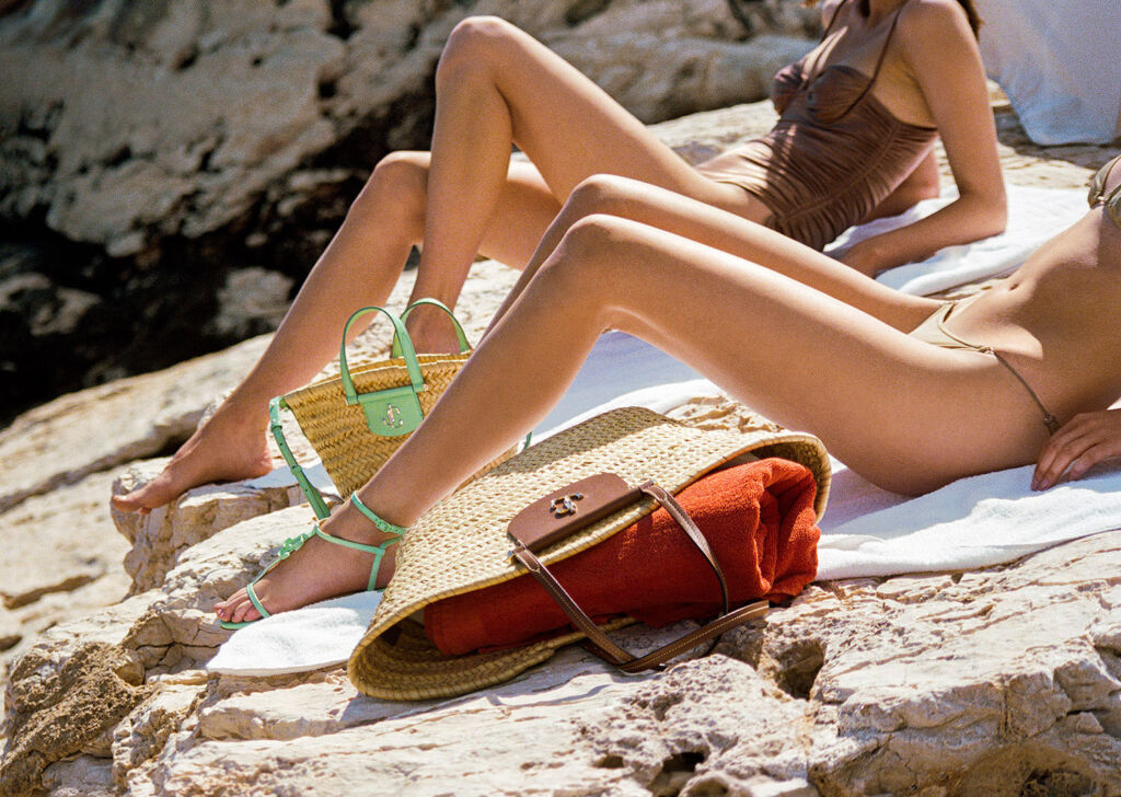 Bags and shoes in Jimmy Choo's High Summer 2021 collection