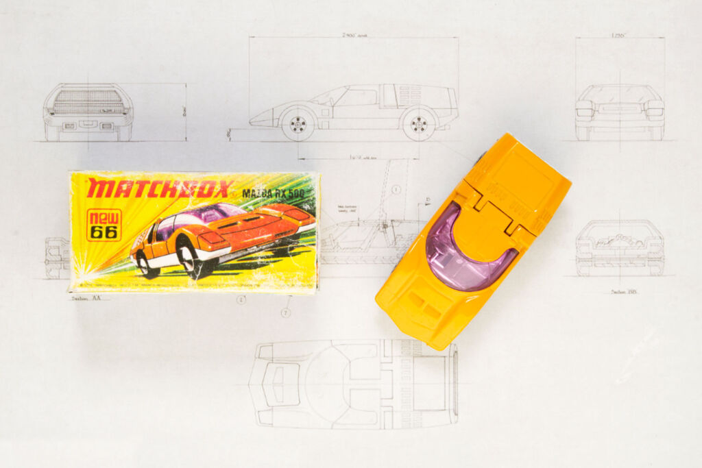 The Matchbox 1:64 scale version of the RX500 with its original box