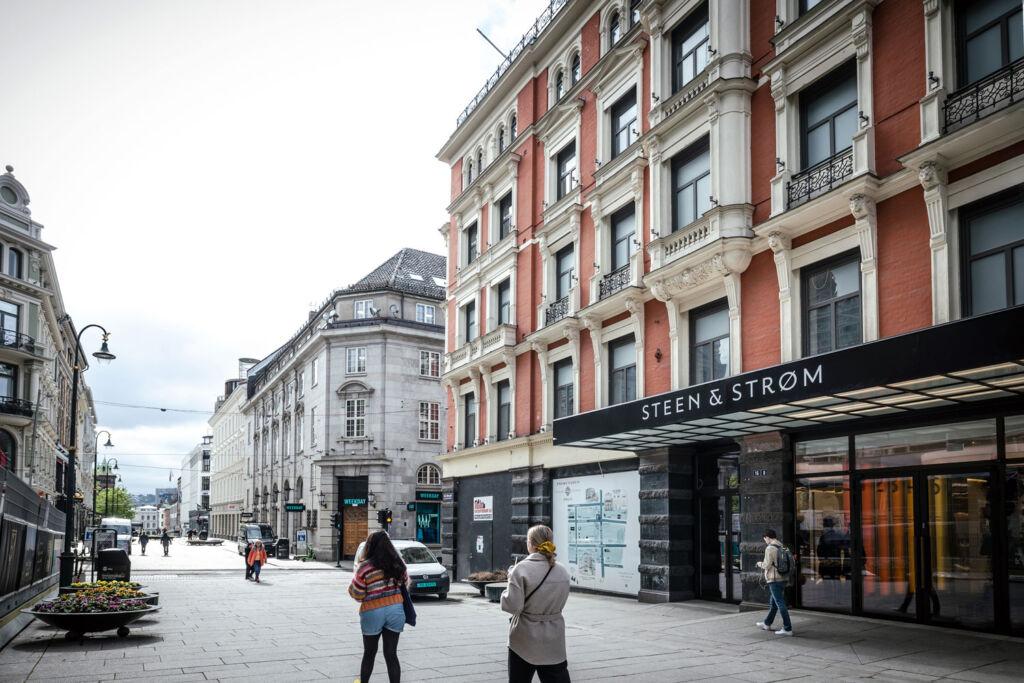 Outside the Steen & Strøm store in Oslo
