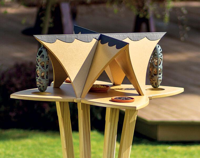 Perch & Settle's Extraordinary New Bird Table is Art for the Garden