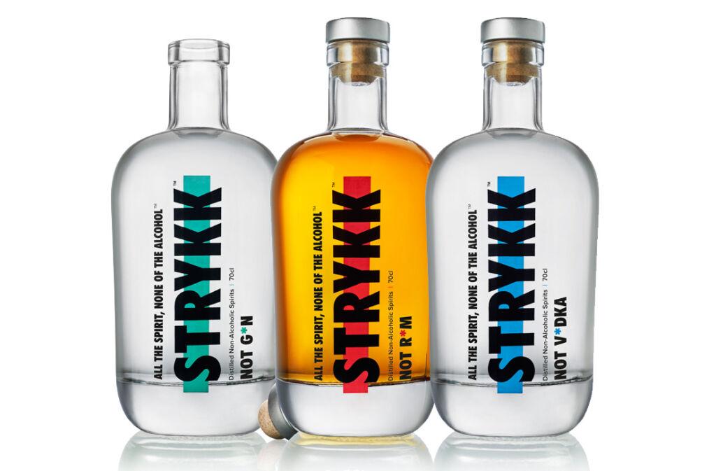 STRYKK non-alcoholic spirit bottles