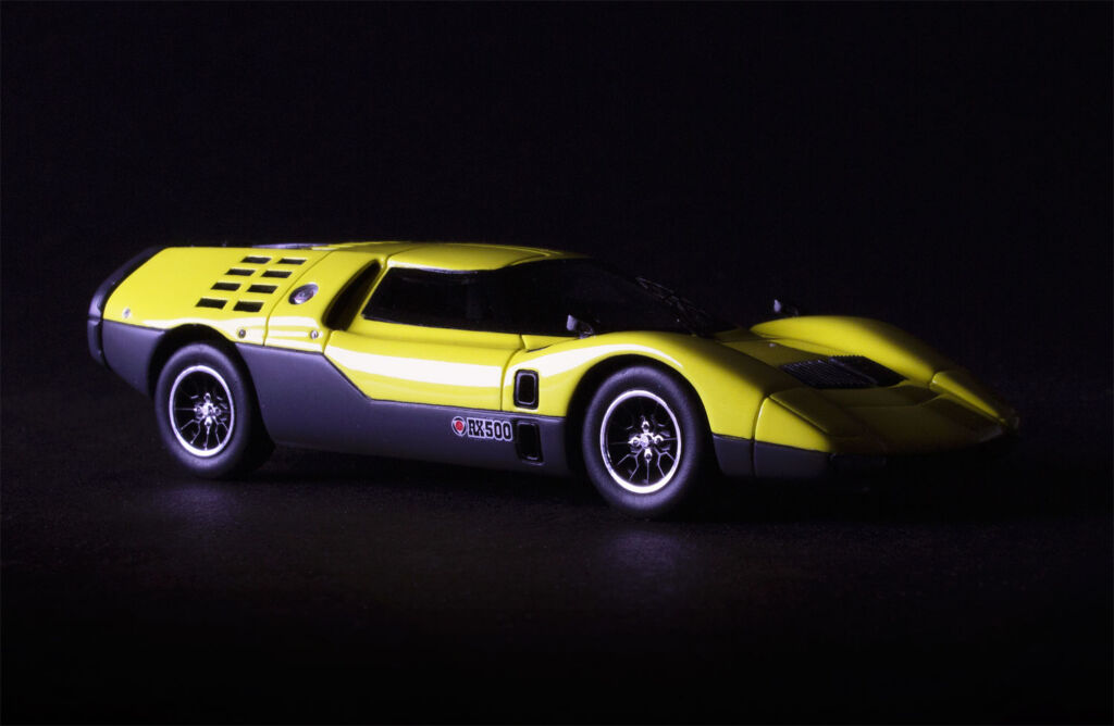 The Sparks model of the car in Yellow paint