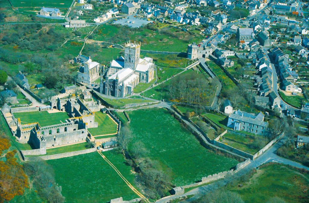 St Davids viewed from above