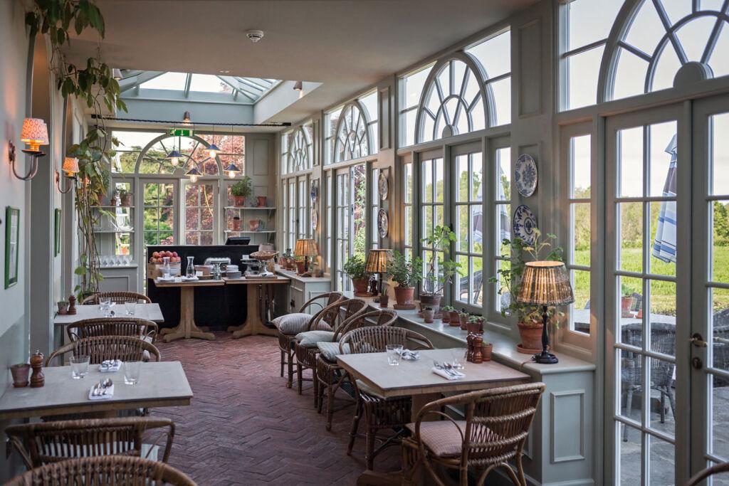 Inside the garden house restaurant