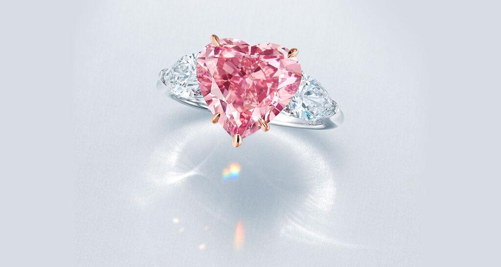 The Sweet Heart pink diamond ring