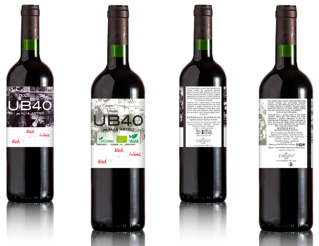 The traditional and vegan versions of the Bordeaux Supérieur