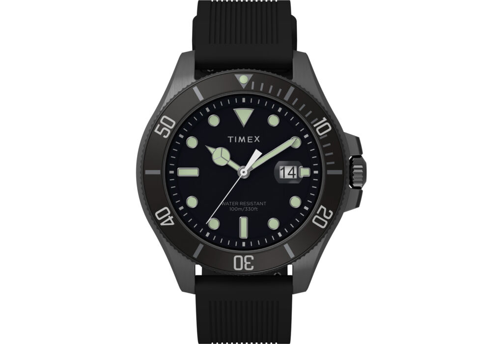 The Navi Harbour timepiece in black