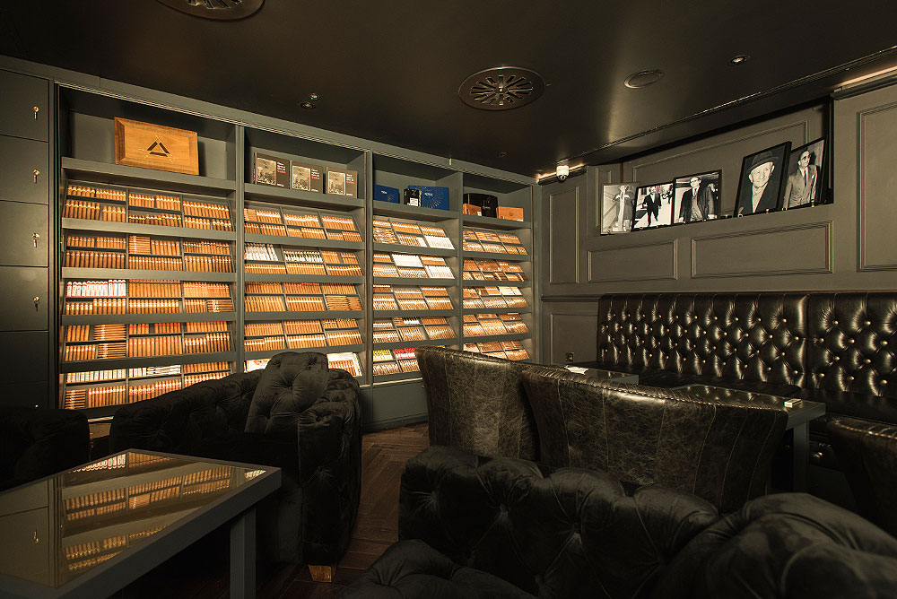 Inside the Turmeaus Late Hour Cigar Store & Sampling Lounge