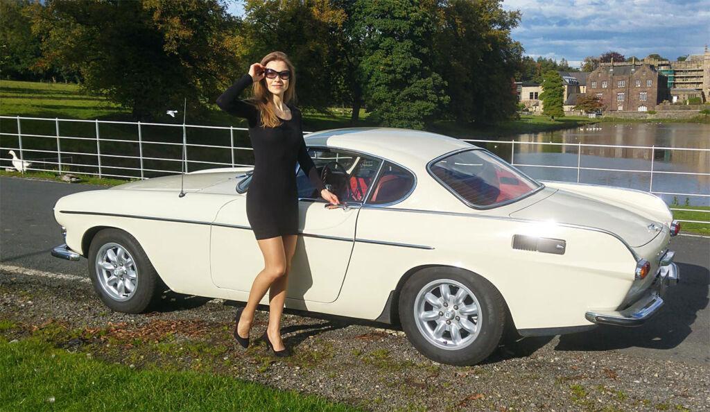 My wife Natasha with my Volvo P1800