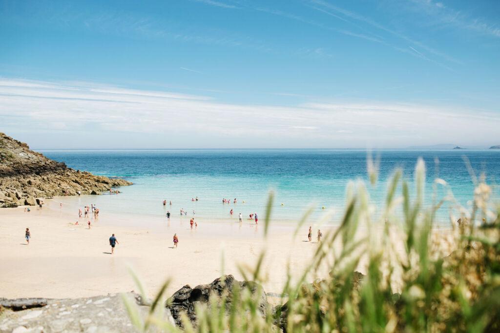 People enjoying a Cornish beach. Photo by Angela Pham.