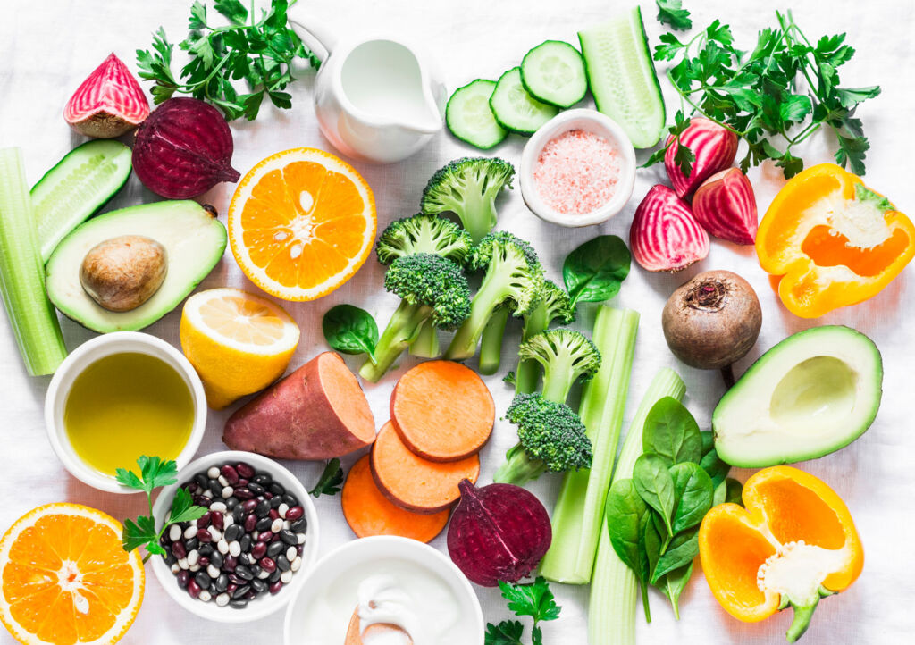 Eating vegetables and fruits is a great way to keep skin in tip-top condition