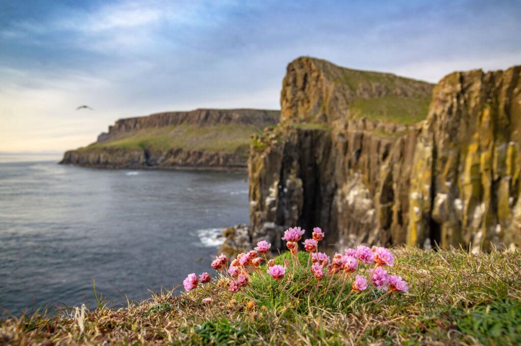 The beautiful coastline around the Isle of Skye