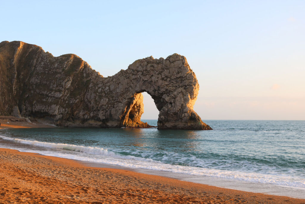 The famous rock formations on the Jurassic coast. Photo by Toby Elliott.