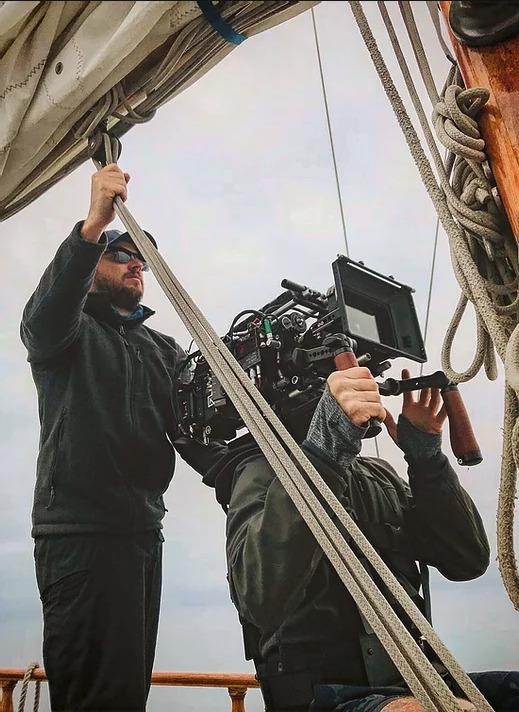 Adam Feuerman on a shoot