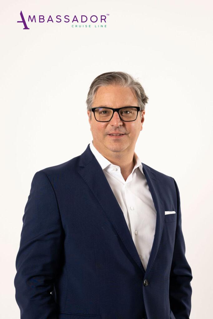 The cruise line's CEO Christian Verhounig