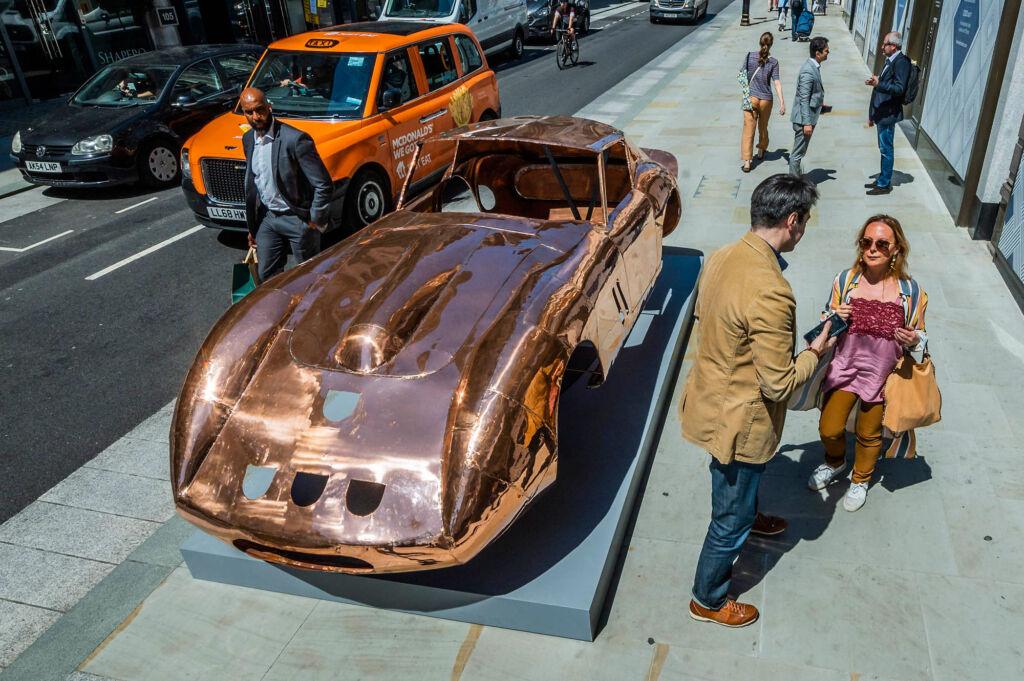Anthony James Ferrari 250 GTO on the Mayfair Sculpture Trail