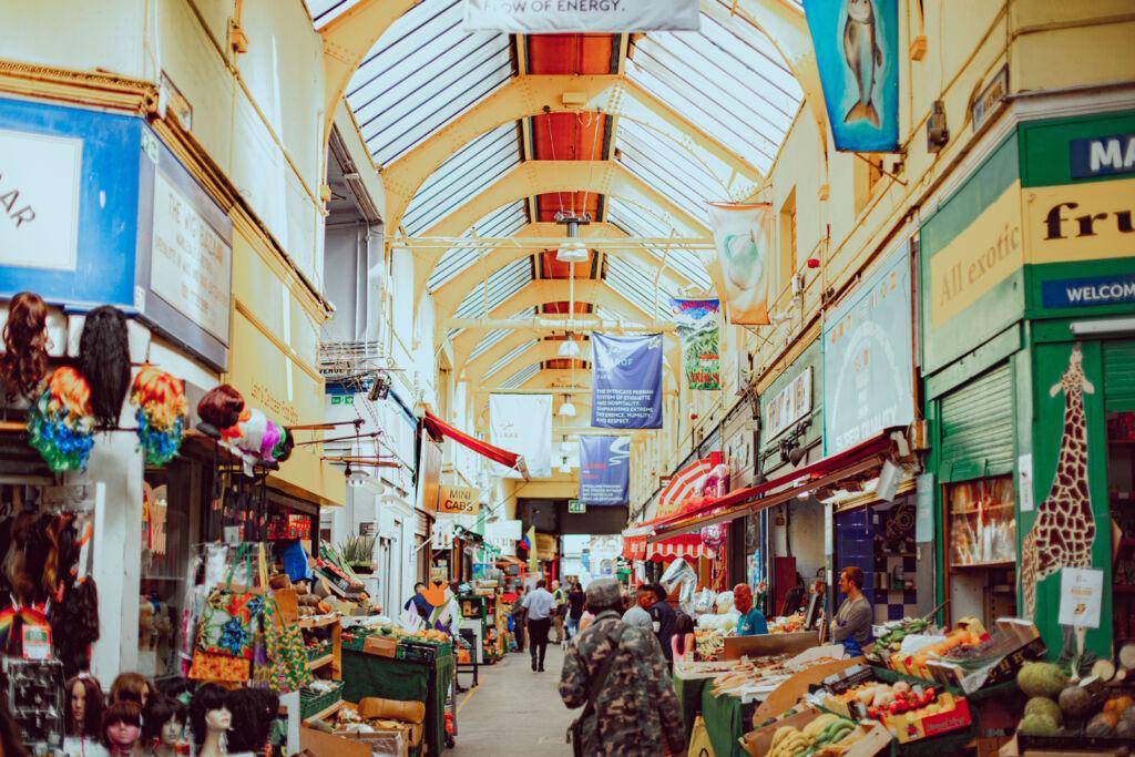 Inside Brixton Village Courtyard