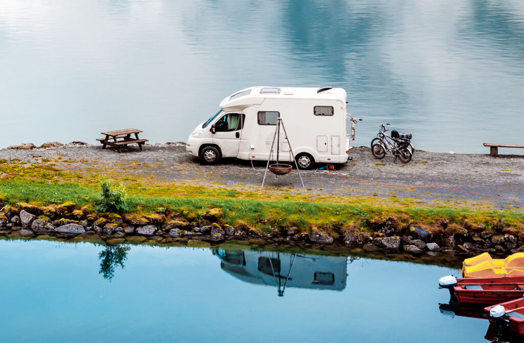 Lithuania has many places where you can park a camper van by a river and enjoy the views