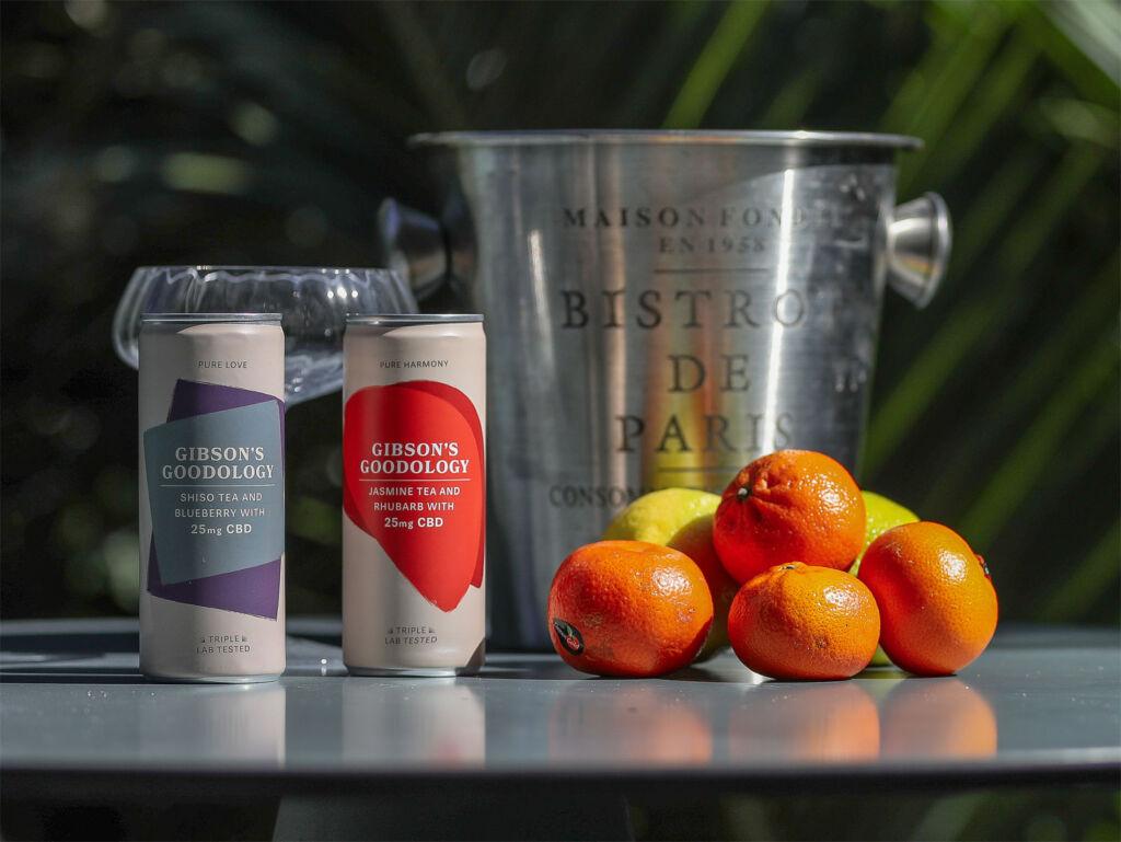 Can of Gibson Goodology Jasmine Tea and Rhubard