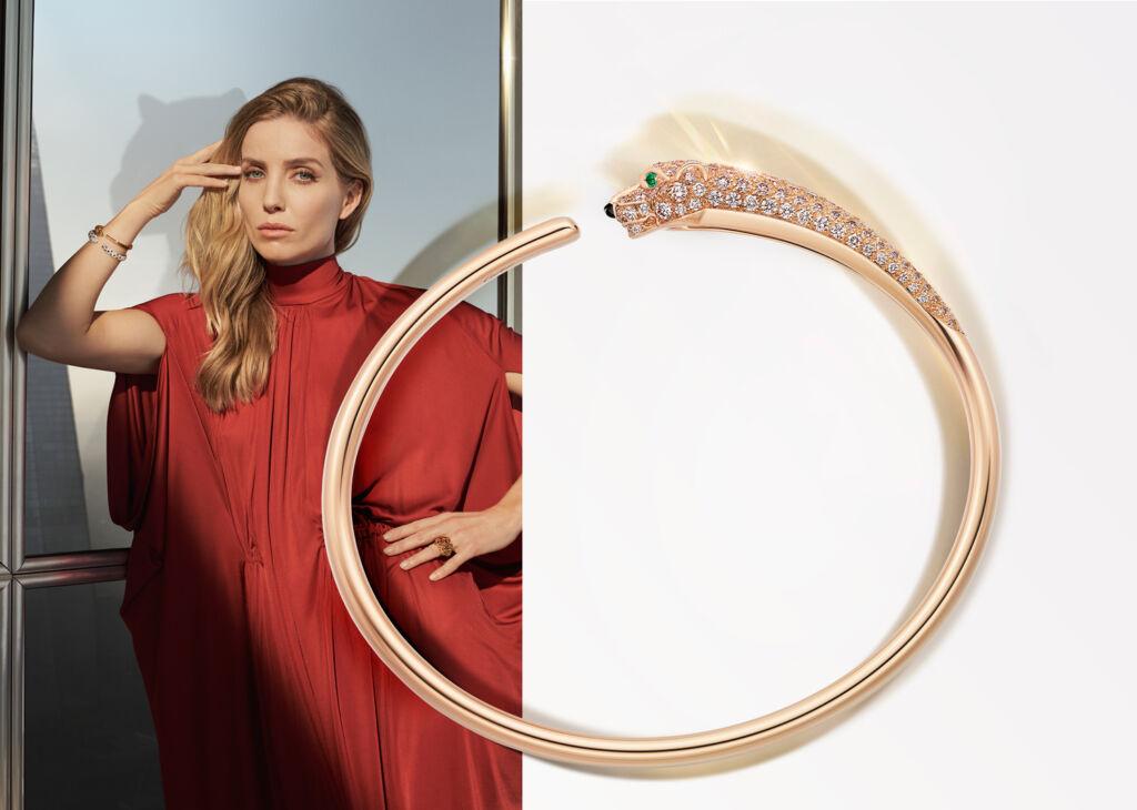 Closeup view of the New Panthére de Cartier Bracelet