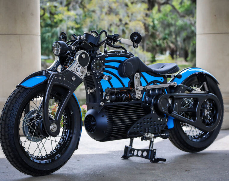 Curtiss Motorcycles The One in blue paint