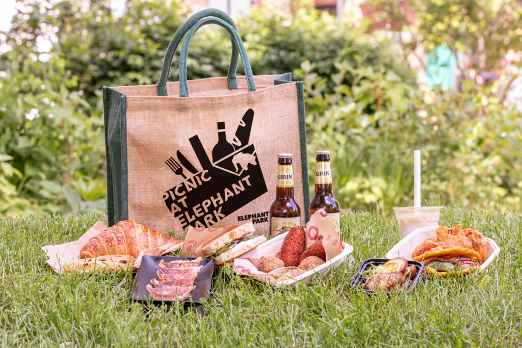 Enjoy the outdoors with a picnic at Elephant Park in London