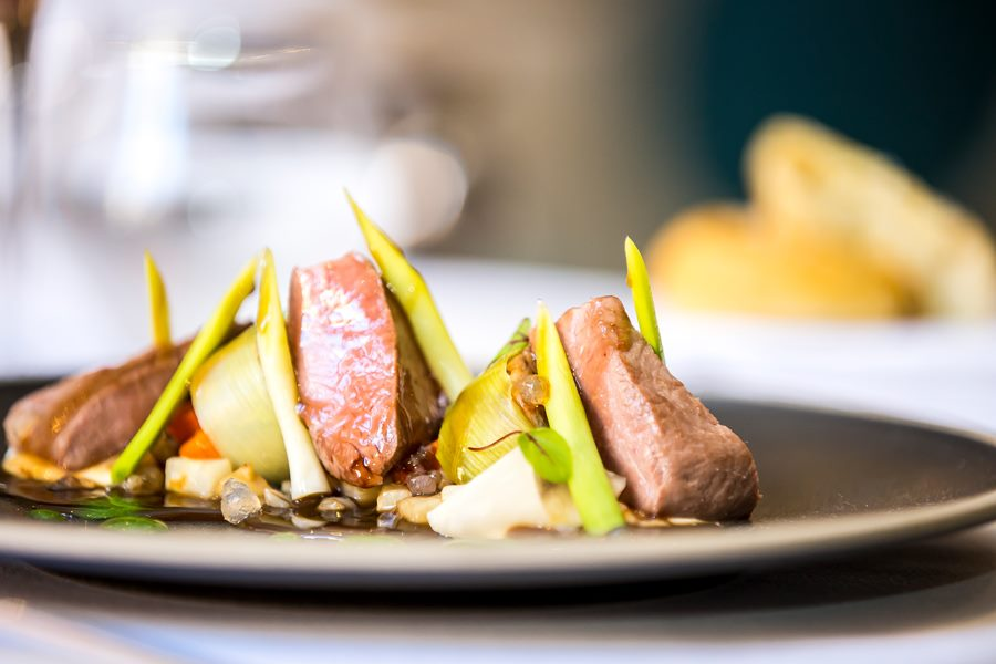 An example of the food dishes available at Whittlebury Park Hotel and Spa