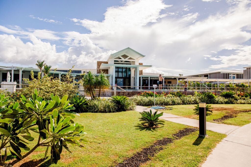 The Garden at the Taumeasina Island Resort