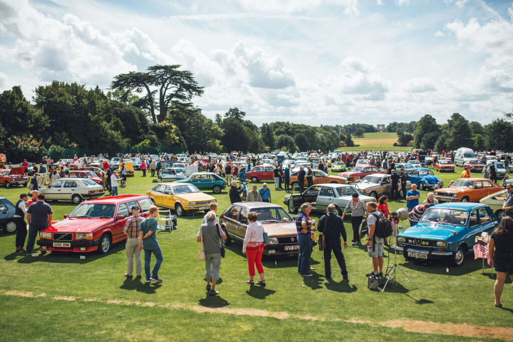 People and cars at Hagerty's Festival of the Unexceptional