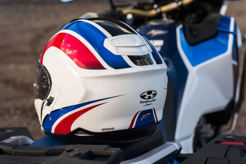 A rear view of the Ibuki helmet