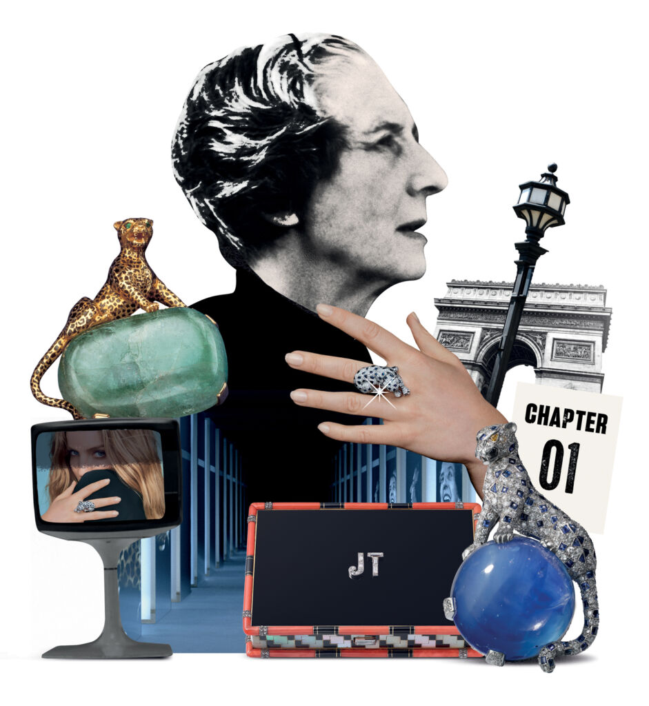 Jean Toussaint and some of the iconic products she created for Cartier
