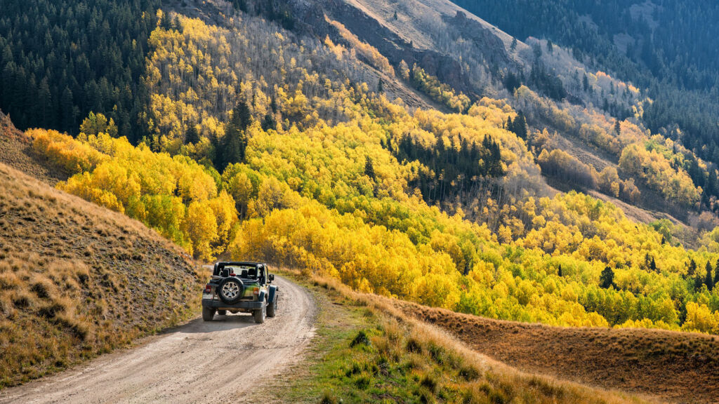 Driving offroad in a vehicle more suitable for the rugged terrain