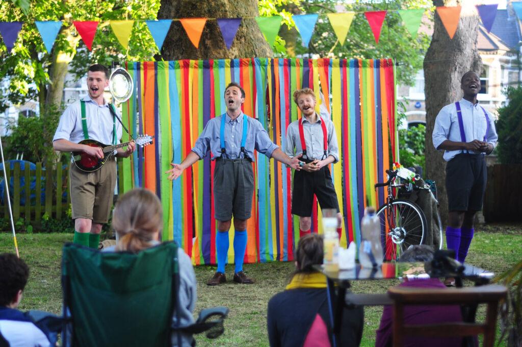 Live music performance at Home Farm Elstree
