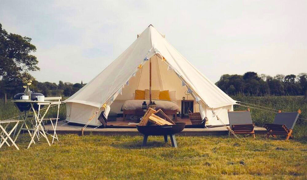 One of the Bell Tents at Home Farm Glamping
