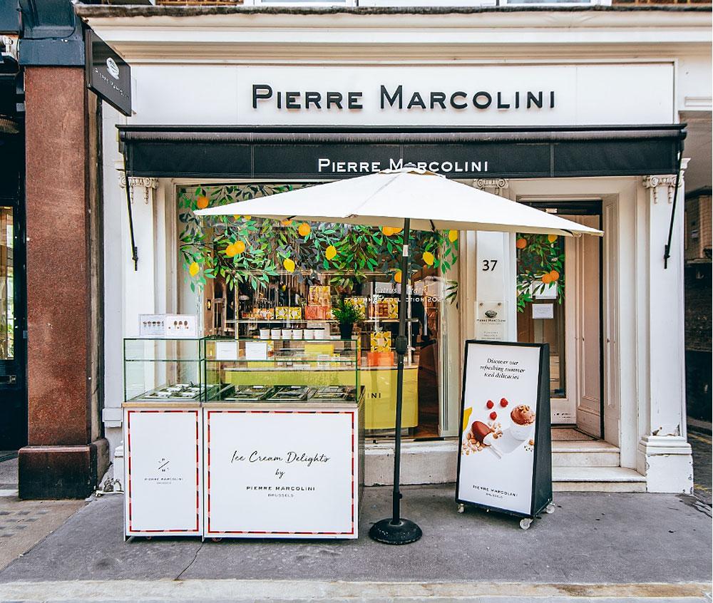 Pierre Marcolini Launches Citrus Garden Ice Cream Counter for the Summer