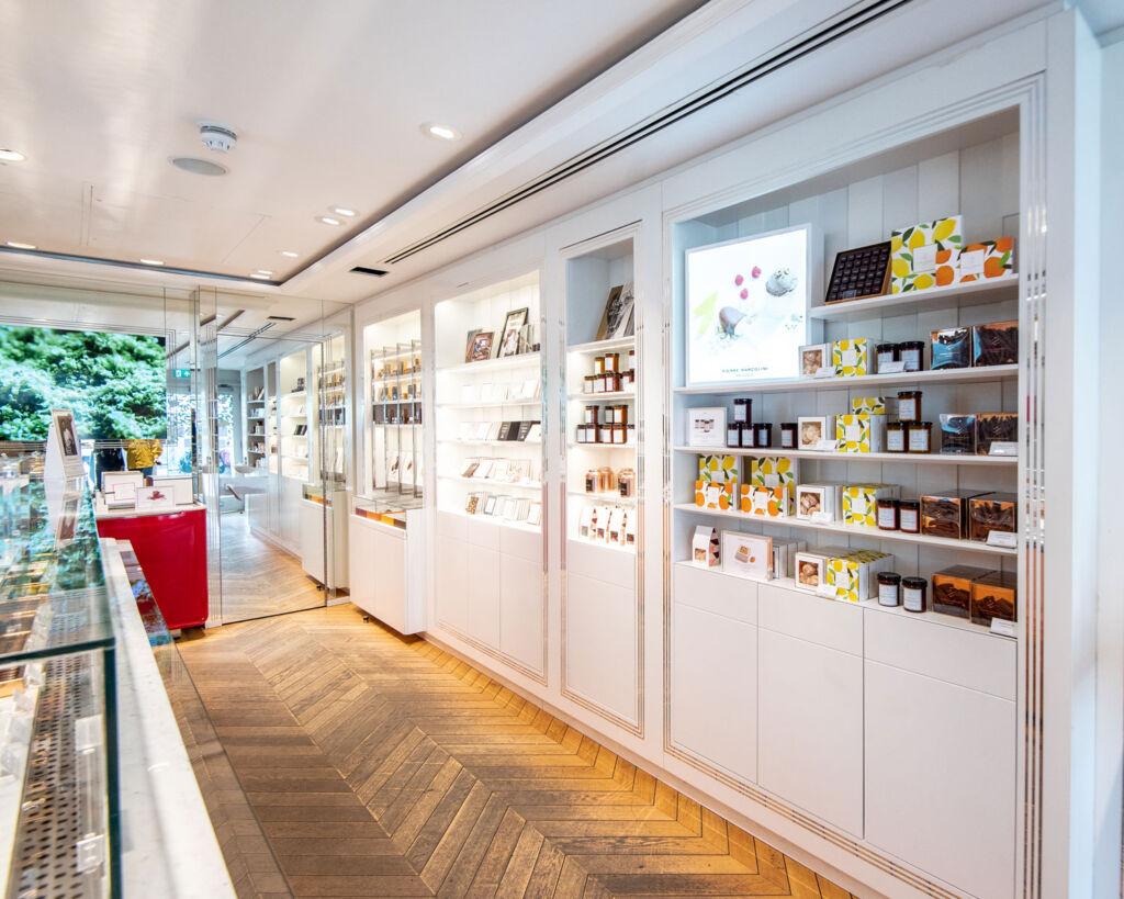 Inside Pierre's chocolate shop on Marleybone High Street in London