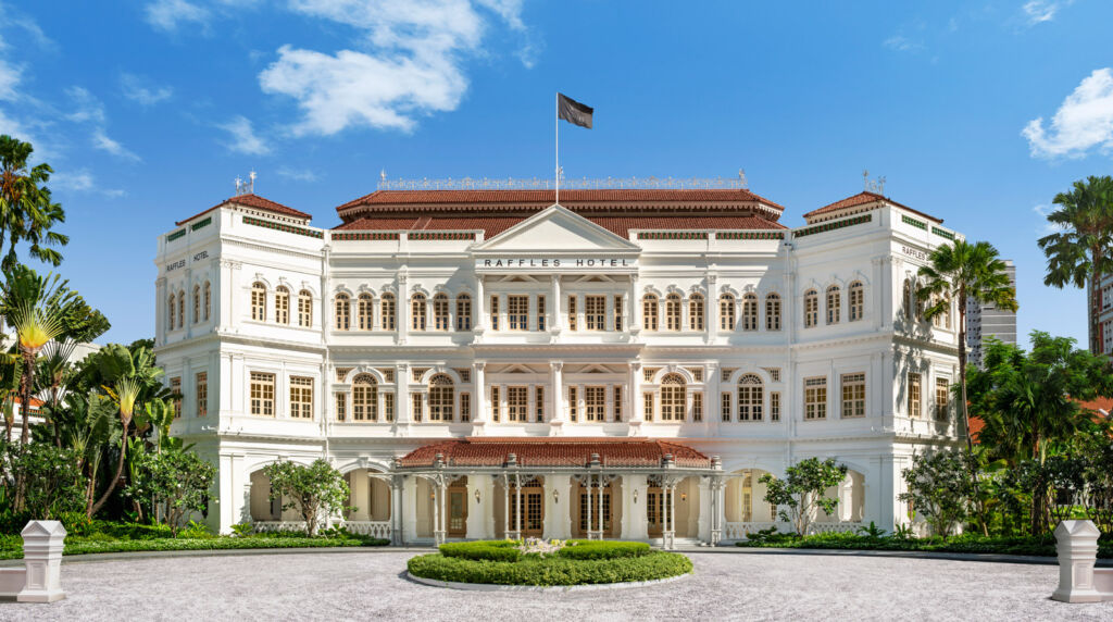 Raffles Hotel Singapore exterior after its refurbishment