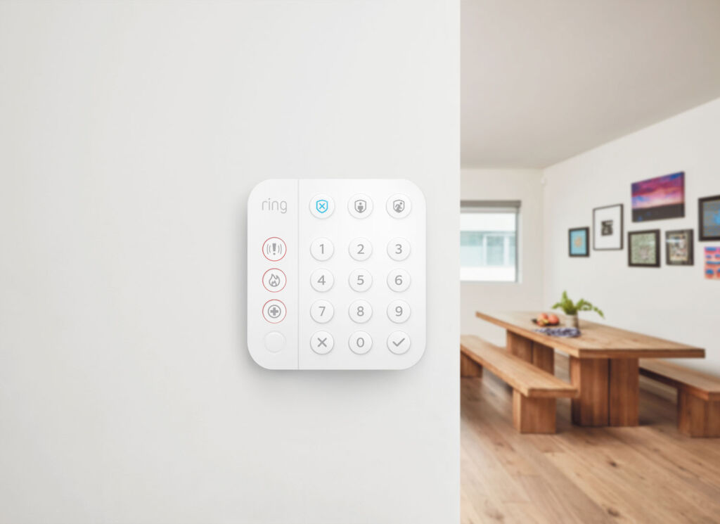 The brands second generation alarm key pad