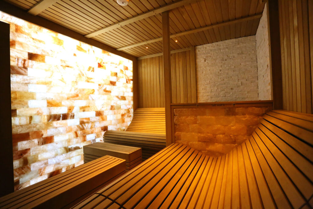 Inside the sauna at the spa
