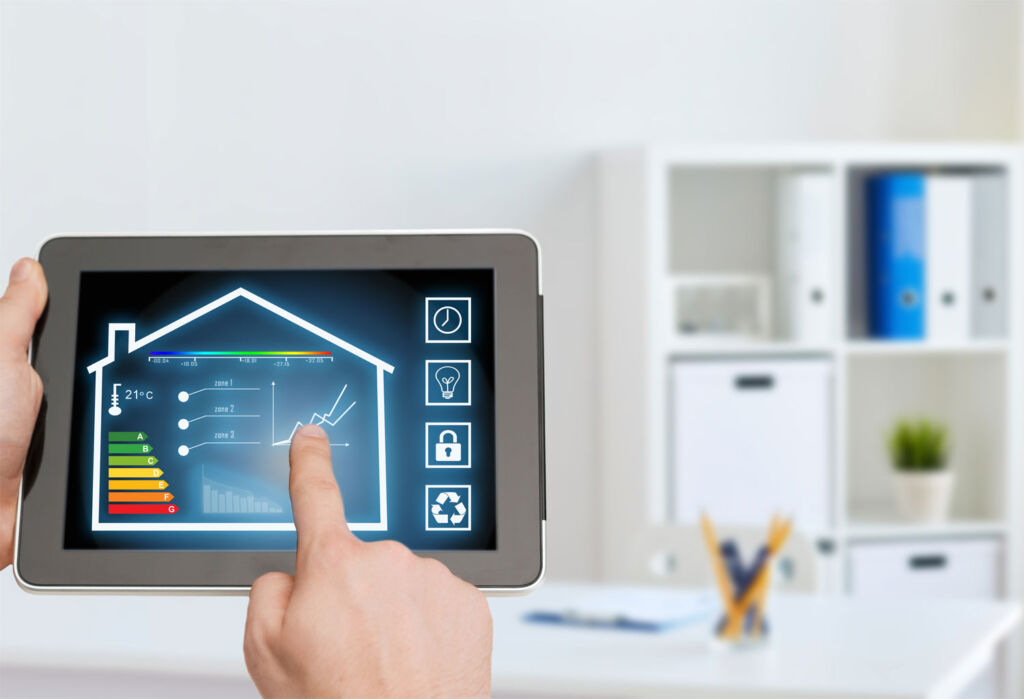 Controlling the house from a tablet PC