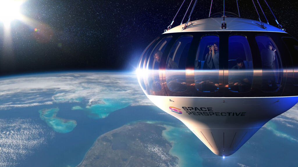 A view from the outside of the Space Perspective capsule