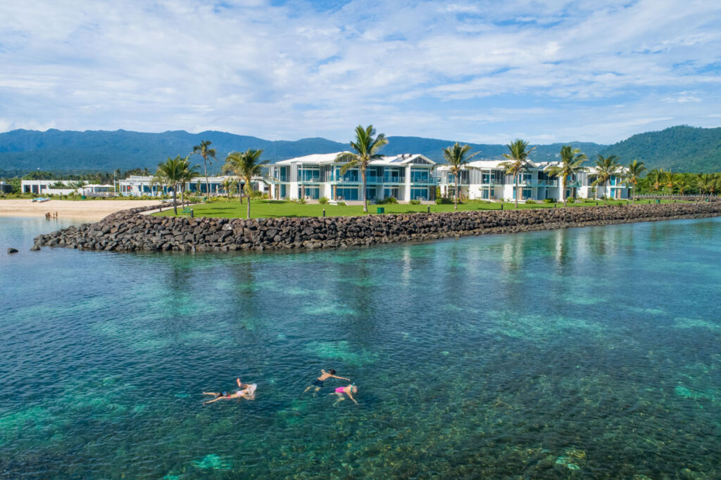 Guest properties at the Taumeasina Island Resort
