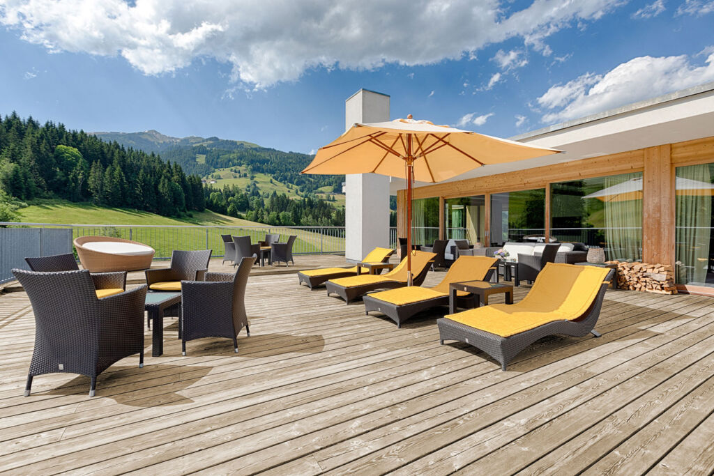 One of the Penthouse Suite terraces which offers astonishing views