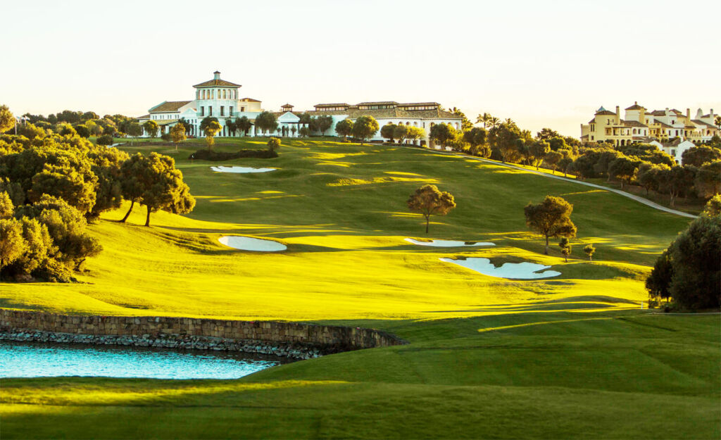 The club house and golf course in Sotogrande