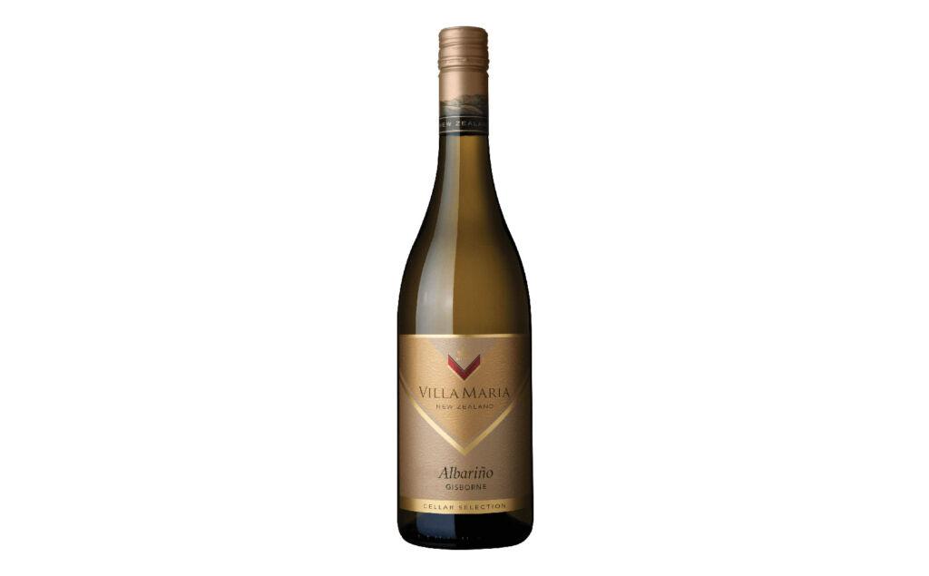 A bottle of Villa Maria Cellar Selection Albariño 2020